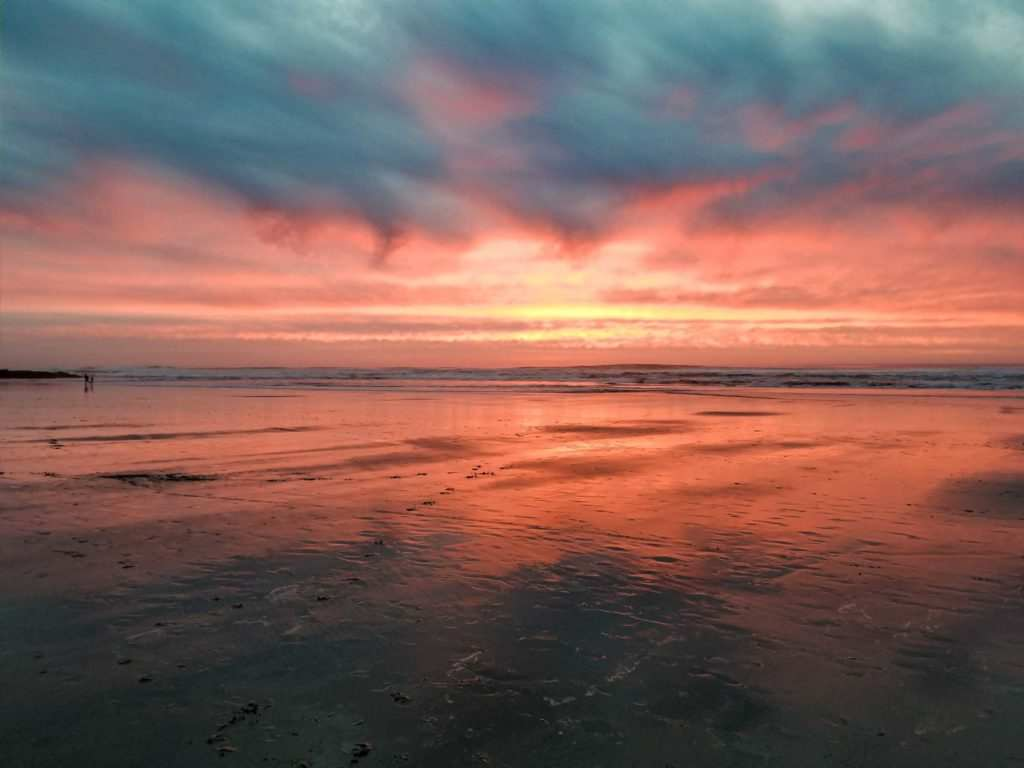 Scenic ocean sunset in Lincoln City